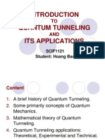 An Introduction to Quantum Tunneling and Its Application