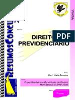 AFR1009 PRV Direito Previdenciario