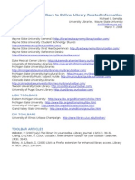 Using Toolbars to Deliver Library-Related Information - Handout