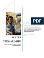 Water Stewardship Grant Proposal