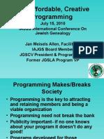 JGS Programming