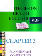 Strategies on health education
