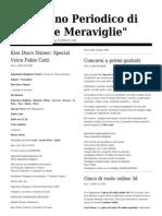 Giornalino Periodico Sapori e Meraviglie