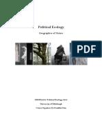 Political Ecology Handbook 2013