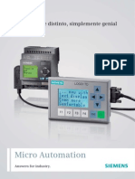 Características técnicas del modulo lógico programable PLC Logo de Siemens