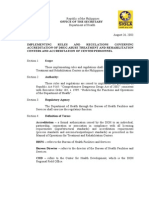 DOH DATRC IRR for R.A. 9165