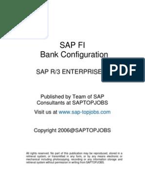 SAP FI Bank Configuration | Debits And Credits | Cheque