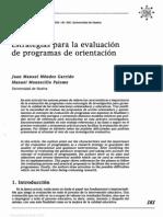 Estrategias de Evaluación de Programas de Intervención