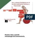 Entrenamiento Continuo vs Intermitente 8 (2009