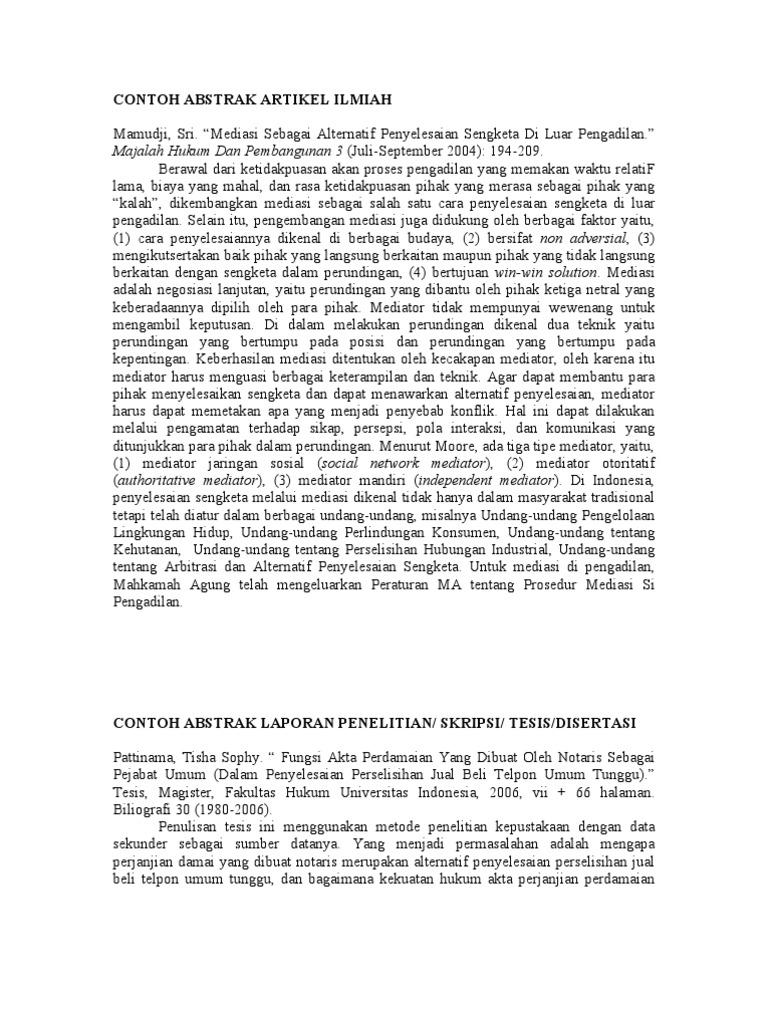 Contoh Halaman Abstrak Makalah Contoh Win Download Gambar Online