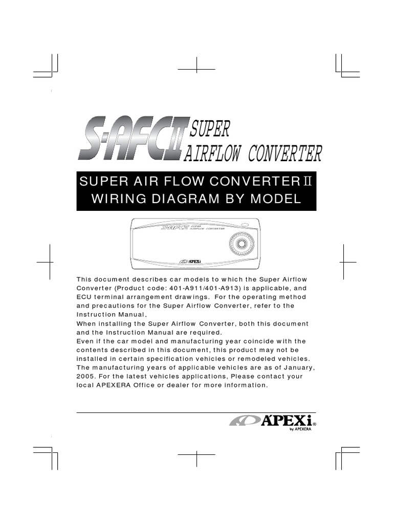 Apexi Installtion Instruction Manual Safc 2 Super Air Flow Converter Odes Wiring Diagram Electrical Connector Throttle