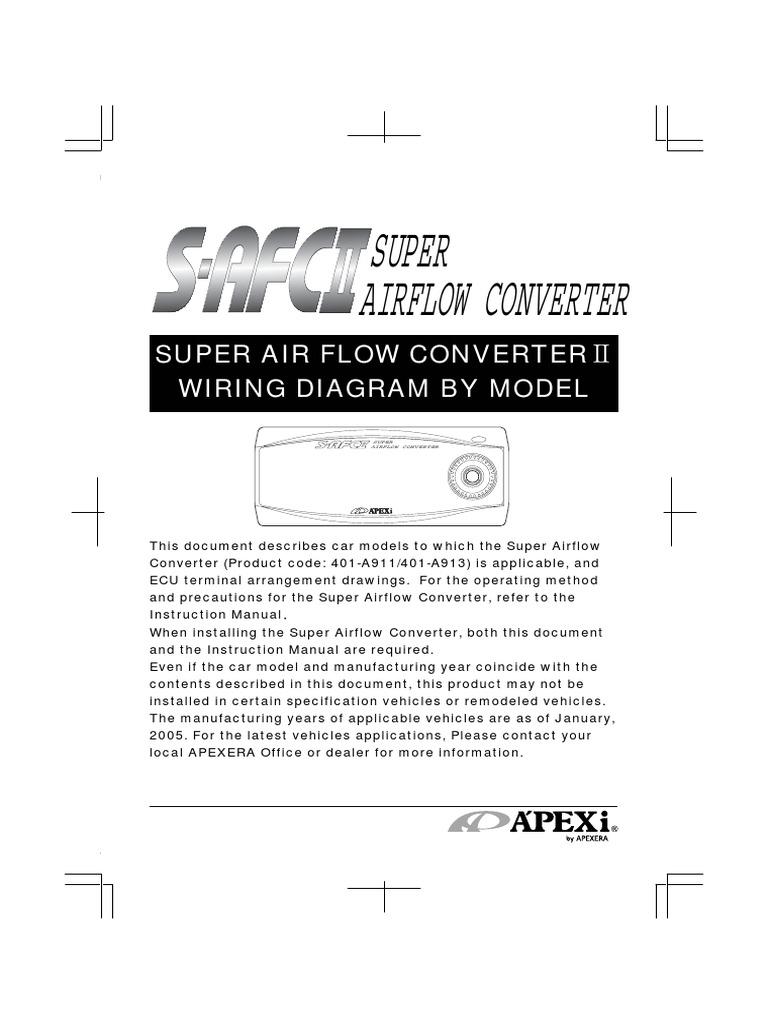 Apexi Installtion Instruction Manual Safc 2 Super Air Flow Converter Qg18 Nissan Wiring Diagrams Diagram Electrical Connector Throttle