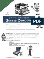 grammar detective student handout