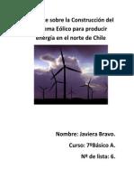 Informe Sobre La Construcción Del Sistema Eólico Para Producir Energía en El Norte de Chile