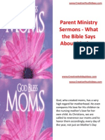 Parent Ministry Sermons - What the Bible Says About Mothers