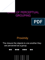Laws of Perceptual Grouping