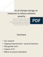 The impacts of climate change on measures to reduce extreme poverty
