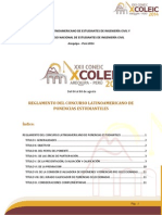 1. Reglamento Del Concurso Latinoamericano de Ponencias Estudiantiles COLEIC 2014