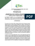 Resolución Reglamentacion Paila Crc