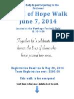 Angel of Hope Walk Information