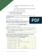 Database Creation 10g