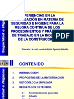 Jose a Aguirre Experiencia Sen Investigacion