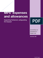 MPs' expenses and allowances