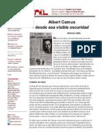 Albert Camus Desde Esa Visible Oscuridad
