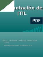 Implantación de ITIL ESCRITORIO