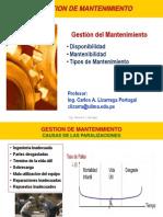 2014-1 Mante Disponibilidad y Mantenibilidad