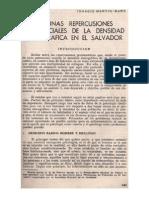 Algunas Repercusiones Psico-sociales de La Densidad Demográfica en El Salvador (1973a)