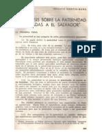 Cinco Tesis Sobre La Paternidad Aplicadas a El Salvador (1975b)
