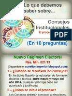 Elección de Consejos
