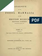 Catalogue of the Fossil Mammalia V02, Lydekker 1887