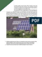 Penggunaan Solar Panel Sebagai Supplier Energi Di Kantor PSMIL