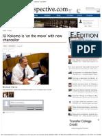 Michael Harris IU Kokomo, Kokomo Perspective Person of The Year, Chancellor IU Kokomo, IU Kokomo on the Move, פרופסור וצנסלור מייקל הריס