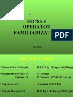 Komatsu HD785-5 - FAMILIARIZATION Presentation