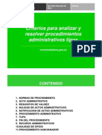 Criterios Procedimientos Administrativo Tipos