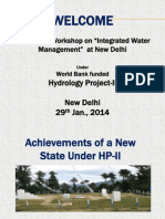 Achievement of New State Under HP-2 - Himachal Pradesh in Integrated Water Management