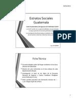 Estratos Sociales Guatemala