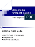 Mass Media Actuale