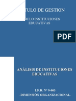Análisis de Las Instituciones Educativas[1]