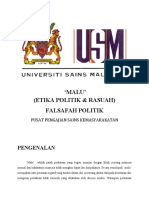 'Malu' (Etika Politik & Rasuah)