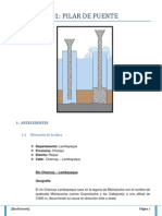 Informe 1 Pilar de Puente Nayla