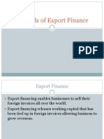 Methods of Export Finance