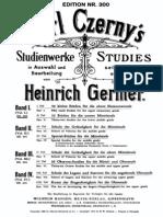 Czerny Carl - Studienwerke in Auswahl Und Bearbeitung Von Heinrich Germer Band 1