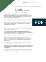 VITSOE Dieter Rams Speech