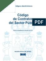 Código de Contratos del Sector Publico (actualizado a 8 de abril de 2014)