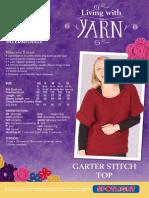 Garter Stitch Top E13 12