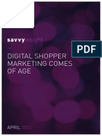 Savvy Markting - Digital Shopper Review